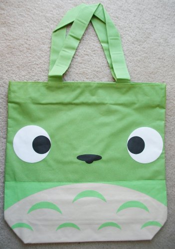 New My Neighbor Totoro Apple Green Color Large Canvas Book Bag