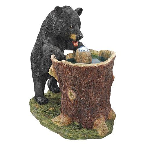 Design Toscano Guzzling Gulp Black Bear Garden Fountain, Multicolored (Bear Fountain compare prices)