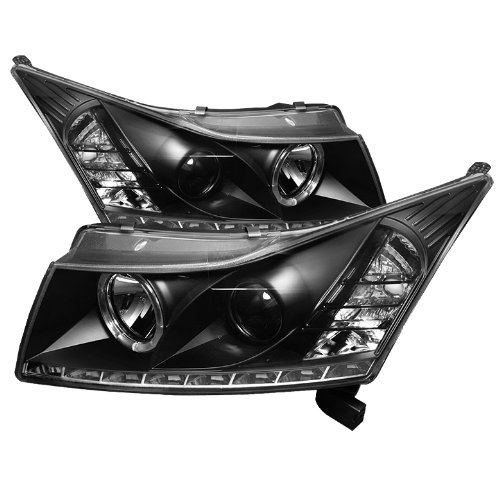 Spyder Auto Pro-Yd-Ccrz11-Drl-Bk Chevy Cruze Black Drl Led Projector Headlight