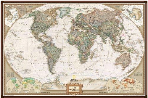mapa-politico-mundial-con-respaldo-de-corcho-de-national-geographic-estilo-executive-marco-de-alumin