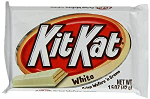 Kit Kat White Chocolate Candy Bar 42 g (Pack of 8)