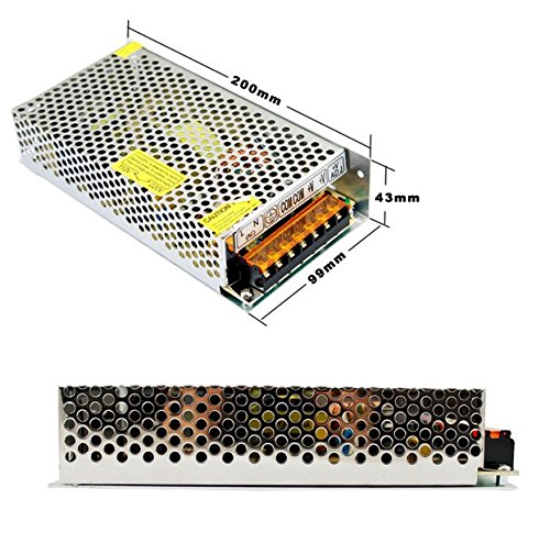 Overmind AC 110V/220V DC 100W-400W Trafo Netzteil Netzadapter Treiber Driver 12V für LED Strip Streifen (200 Watts)