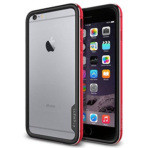 iPhone 6 Plus ケース, Spigen® [ リアル アルミニウム バンパー] ネオ・ハイブリッドEX メタル Apple iPhone (5.5) アイフォン 6 プラス カバー (国内正規品) (メタル・レッドSGP11194)