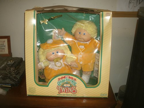 80's Cabbage Patch Kids Twins - Blonde Boy & Blonde Girl (Cabbage Patch Vintage compare prices)