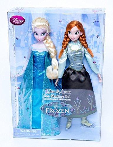 Original Authentic Disney -- Il Regno di Ghiaccio - Anna e Elsa Pattinaggio su ghiaccio insieme bambola