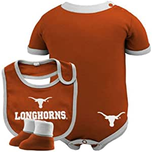 Amazon Texas Longhorns Infant esie Bib & Bootie Set
