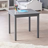 Lipper International Child's Table, Grey