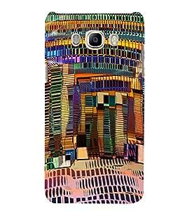 PrintVisa Modern Art Ethnic Pattern 3D Hard Polycarbonate Designer Back Case Cover for Samsung Galaxy J5