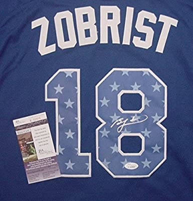 Ben Zobrist Tampa Bay Rays Autographed 2013 All Star #18 Jersey JSA