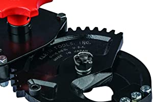 Klein Tools 63700 Heavy Duty Forged Ratcheting Cutter, Heat Treated with 24-Inch Handles and Shear-Type Blades