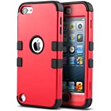 ULAK IPod Touch 6 Case,iPod Touch 5 Case,Hybrid Silicon Hard Case Cover For Apple IPod Touch 5 6th Generation...