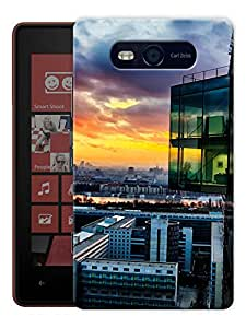 """Humor Gang High Rise Building Printed Designer Mobile Back Cover For """"Nokia Lumia 820"""" (3D, Matte, Premium Quality Snap On Case)"""