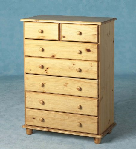 SOL SOLID ANTIQUE PINE 5+2 DRAWER CHEST