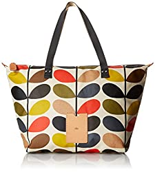 Orla Kiely Multi Stem Zip Shopper Shoulder Bag, Multi, One Size