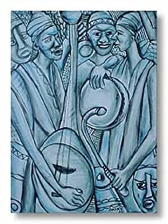 "Music Makers by Prince E. Okuku 18""x24"" Art Print Poster African-American"