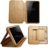 ECellStreet ™ TABLET Smart Rich Flip Case / Cover Book Cover With Stand For IBall Slide Gorgeo 4GL (Gold)
