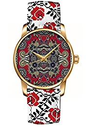OUO Colourful Womens Wristwatch / Noble Floral Design