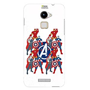 Hamee Marvel Coolpad Note 3 Case Cover Avengers With Logo Paint