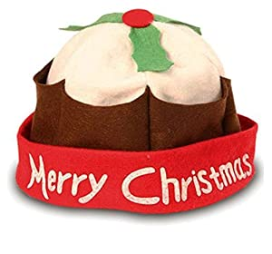Redstar Christmas Pudding Hat Novelty Xmas Hat Fancy Dress Christmas Party