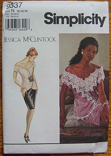 simplicity-9337-sewing-pattern-jessica-mcclintock-misses-2-piece-elegant-dress-sizes-10-12-14-by-jes