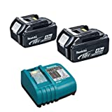 Makita BL1840 18V 4.0Ah Li-Ion Battery (196399-0) Plus DC18RA 14.4-18V Lithium-ion Battery Charger 240V