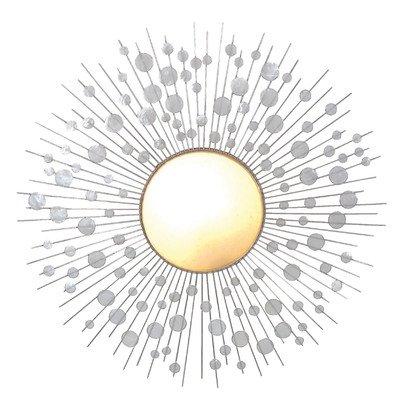 Näve Leuchten Deko-Wandleuchte / inklusiv Energiesparleuchtmittel / d-60 cm / Metall / Muschel