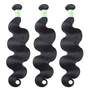BELLABH® 6A Unprocessed Mixed Lengths 2 Bundles Brazilian Virgin Human Hair Extensions Natural Color Body Wave Weaves