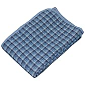 西川 リビング 麻 入り 綿ポコポコ 敷き パッド 100×205cm CP425 ブルー 2072-42595