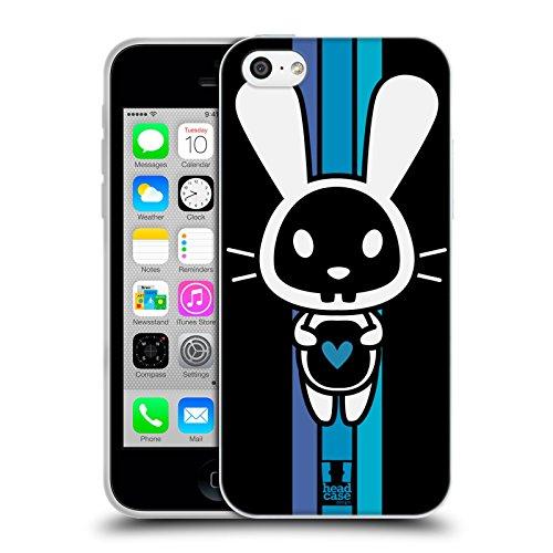 Head Case Designs Bunny Black Animal Skulls Soft Gel Back Case Cover for Apple iPhone 5c