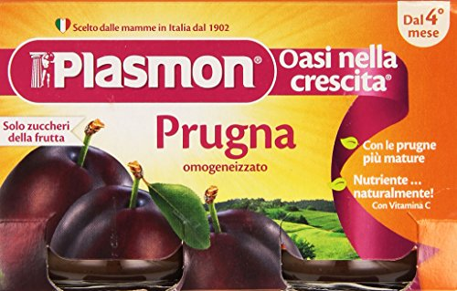 Plasmon - Oasi nella crescita, Prugna, omogeneizzato, dal 4 mese - 208 g