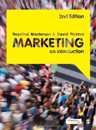Marketing: An Introduction, by Rosalind Masterson, David Pickton