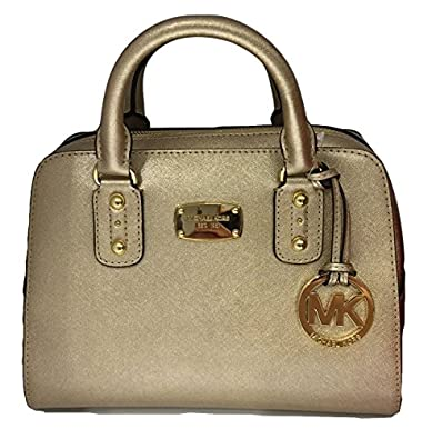 michael kors small satchel gold saffiano leather handbags. Black Bedroom Furniture Sets. Home Design Ideas