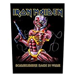 Iron Maiden - Backpatch Somewhere back in time (in 23,5 cm x 20 cm)