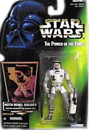 Star Wars Power of the Force HOTH REBEL SOLDIER Green Card Action Figure