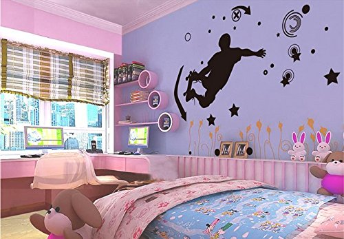 The Living Room Background Wall Stickers Ofextreme-Sports Skater Boy front-992217