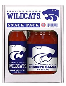Kansas State Wildcats NCAA Snack Pack (5oz Hot Sauce, 16oz Picante Salsa) from Hot Sauce Harry's