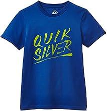 Quiksilver Classic T-Shirt manches courtes Garçon Olympian Blue FR : 14 ans (Taille Fabricant : L/14)