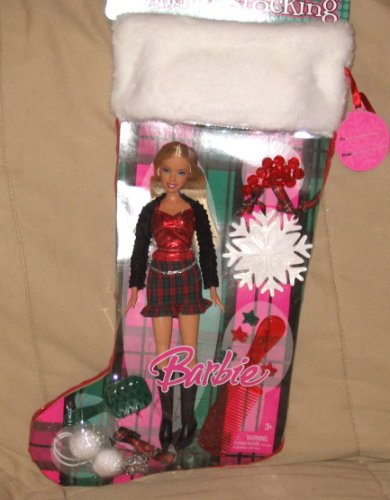 Barbie Holiday Stocking - 2007 - Buy Barbie Holiday Stocking - 2007 - Purchase Barbie Holiday Stocking - 2007 (Barbie, Toys & Games,Categories,Dolls,Playsets,Fashion Doll Playsets)