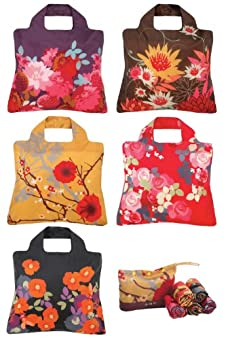 Envirosax Bloom Reusable Shopping Bags 5-pack