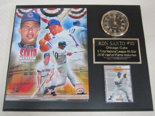 Ron Santo Chicago Cubs Collectors Clock Plaque w/8x10 Photo and Card at Amazon.com