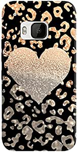 DailyObjects Gold Heart Leo Black Case For HTC One M9
