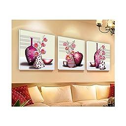 Cross Stitch 5D Magic Cube Diamond Round Diamond Happy Vase Pink Diamond Painting Bedroom Flower