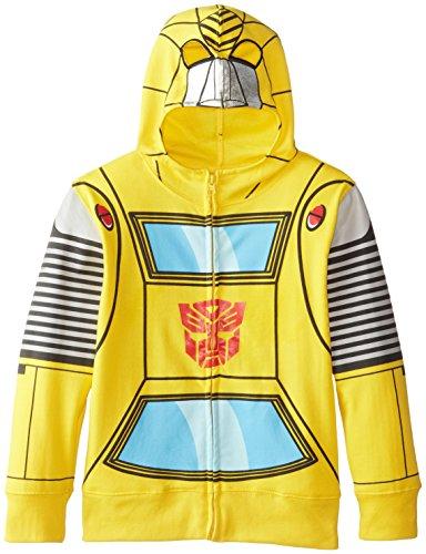Transformers Little Boys' Bumblebee Boys Costume Hoodie, Yellow, 5/6