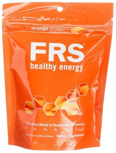 FRS Healthy Energy Chews, Orange, 30-Count Bag