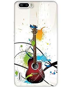 Hugo Huawei Honor 6 Plus Back Cover Hard Case Printed Designer Multicolour