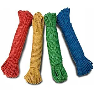 LONG 25M HEAVY DUTY THICK ROPE GARDEN CLOTHES WASHING LINE GARAGE CAMPING TOW