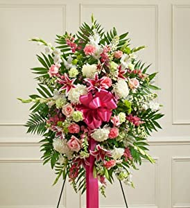 1800Flowers - Deepest Sympathies Pastel Standing Spray - Medium