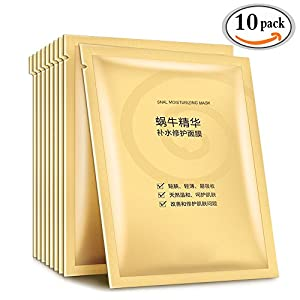 MLMSY Deep Moisturizing Rich Snail Facial Mask Anti-aging, Anti-Wrinkle, Deep Hydration, Snail Secretion Filtrate