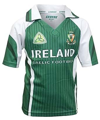 Amazon.com: Croker Boys' Ireland Football Jersey 6 Green / White: Clothing