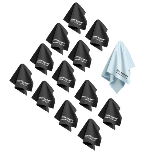 (13-Pack) The Most Amazing Microfiber Cleaning Cloths - Perfect As Cell Phone, Tablet, Camera Lens, Eyeglasses, Computer, Monitor, Laptop Screens, Video, Projector, Binocular, Telescope, Headphone, Cleaners - A Must Have As A Digital Cleaning Accessory Fo